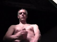 NIGHT CUMSHOT ON THE TERRACE OF A HOTEL - Public wanking solo male amateur video on WebcamWhoring.com