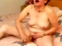 Great masturbation of old whore video on WebcamWhoring.com