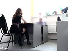 Shocking real job interview. She strips for the boss video on WebcamWhoring.com