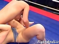Sixtynine pose loving dykes wrestling video on WebcamWhoring.com