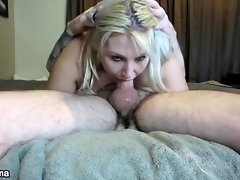 Step daughter gets throat fucked and swallows a load of cum video on WebcamWhoring.com