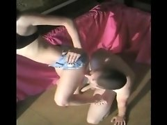 Brunette in shorts ballbusting video on WebcamWhoring.com