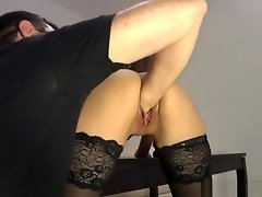 Horny Amateur Babe In Stpockings Really Likes It Rough video on WebcamWhoring.com
