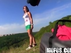 Mofos - Euro teen gets fucked at photoshoot for a lil more cash video on WebcamWhoring.com