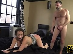 Spanked and whipped sub video on WebcamWhoring.com