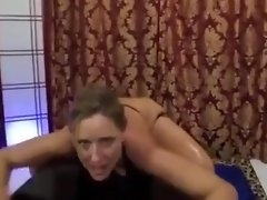 Real dutch whore step sis suck dick after oil massage video on WebcamWhoring.com