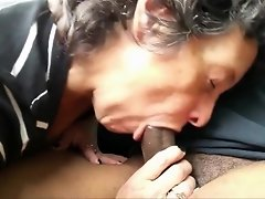 Amateur Grandma Sucks Off a Black Stranger video on WebcamWhoring.com