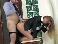 Russian Blonde Secretary on Office video on WebcamWhoring.com