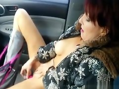 On the road trip wife is masturbating in the car video on WebcamWhoring.com