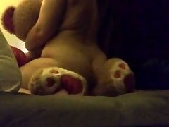 Horny Babygirl Rubbing Her Pussy On Her Giant Stuffed Bear video on WebcamWhoring.com