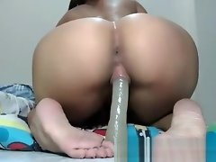 Sexy brunette babe toys her pussy and her tight ass video on WebcamWhoring.com