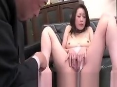 Asian secretary receives finger clit massage video on WebcamWhoring.com