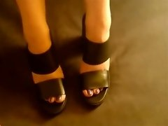 Pretty feet in black heels seduce a horny white stud video on WebcamWhoring.com