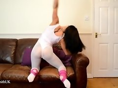 Flexible Dancer Kiki Strips To Nude Out Of Her Spandex video on WebcamWhoring.com