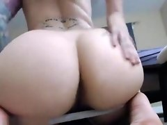 She wants to talk bad to make you cum on her ass video on WebcamWhoring.com