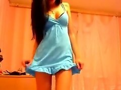 Sweet young babe loves to flirt by wearing her super short video on WebcamWhoring.com