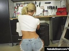 Smoking Hot Natalia Starr Bangs Her Bush In Garage With Tool video on WebcamWhoring.com
