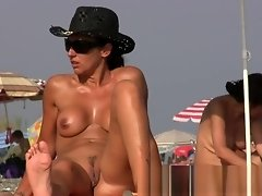 Pretty naked babes at the nudist beach video on WebcamWhoring.com