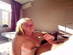 funny sunny blowjob POV cum swallow by codefuck video on WebcamWhoring.com