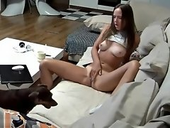 Cutie Is Showing Off On The Sofa video on WebcamWhoring.com