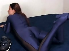 Blue Catsuit Buffi Posing video on WebcamWhoring.com