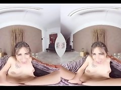 VIRTUAL TABOO - Spanish Teen Ena Sweet Fingers Her Pussy in Bed video on WebcamWhoring.com