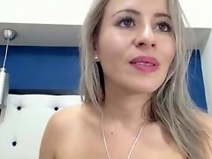 Blonde Hottie Puts On Lipstick And Strokes Her Slick Pussy video on WebcamWhoring.com