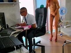 Amateur camgirl teases the boss at the office on webcam video on WebcamWhoring.com