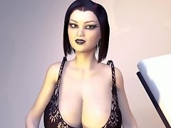 Petite Big Boob Goth Teenager Grows Huge Tits - Breast Expansion Inflation video on WebcamWhoring.com