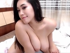 Super hot tiny asian big tits booty babe play with black dildo on ChatGirls.cloud video on WebcamWhoring.com