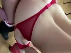 Mature British lady in red stockings fucking amateur video on WebcamWhoring.com