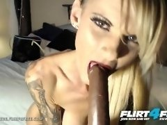 Flirt4Free - Alex Vonde - Kinky Tatted Cougar Sucks and Fucks a Big Dildo video on WebcamWhoring.com