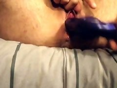 FTM Transguy Rubbing T Cock And Fucking Hole with Dildo video on WebcamWhoring.com