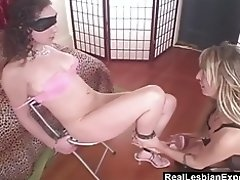 Handcuffed Lesbian Slave Gets Royal Treatment video on WebcamWhoring.com