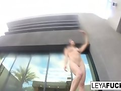 Leya and Lynn have a lesbian romp in a pool video on WebcamWhoring.com